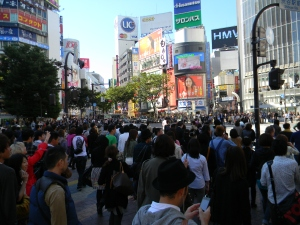 The Famed Shibuya Crossing