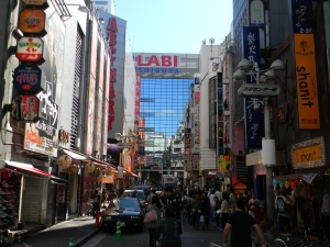 In Shibuya, searching for food