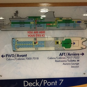 A mini cruise ship.
