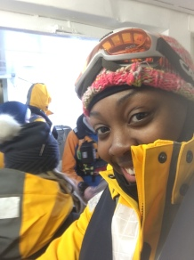 My face just before stepping out on the zodiac.